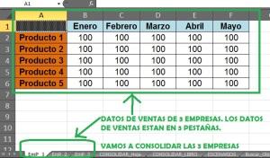 Ayuda Excel 2010 - Consolidar Datos 01